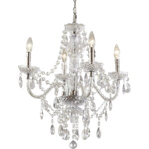 Kathie 4-Light Crystal Chandelier