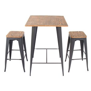 3-Piece Andrew Pub Table Set
