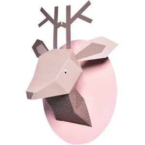 Paper Deer Bust Wall Decor