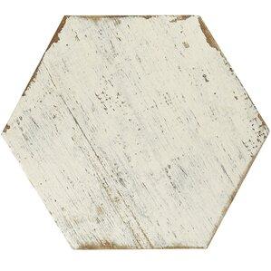 "Igasho 14.13"" x 16.25"" Porcelain Field Tile in White"