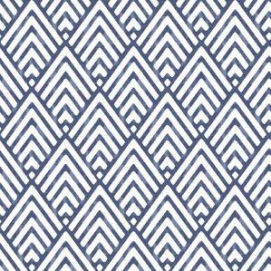 "Watson 18' x 20.5"" Arrowhead Deep Blue Peel and Stick Wallpaper"