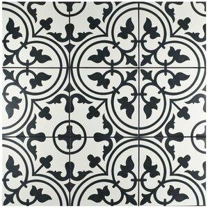 """Arya 9.75"""" x 9.75"""" Porcelain Field Tile in White"""
