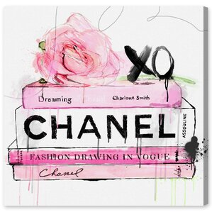Dripping Roses and Chanel Canvas Print, Oliver Gal