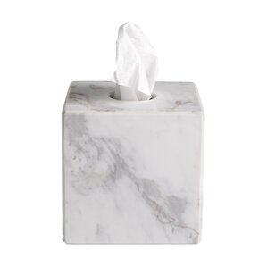 Luna Marble Tissue Box Cover