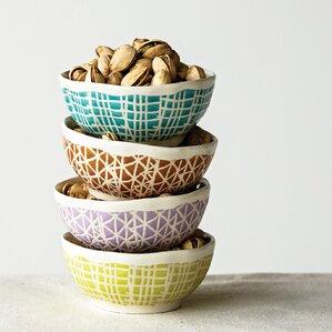 Olson Stoneware Nut Bowl Set