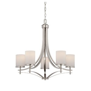 Garvey 5-Light Shaded Chandelier