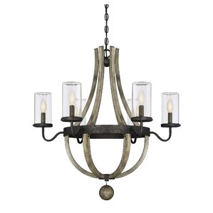 Mathers 6-Light Outdoor Chandelier