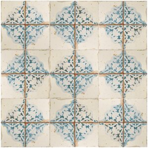 "Hysham 13"" x 13"" Ceramic Field Tile in Azul"