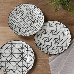 Kelvin 3-Piece Ceramic Dinner plate Set