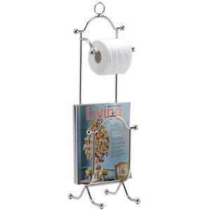 Freestanding Magazine & Bath Tissue Holder