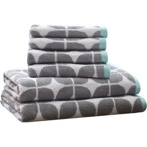 6-Piece Peter Cotton Jacquard Towel Set