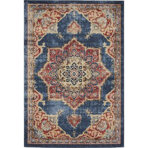 Blair Blue/Red Rug