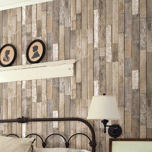 "Barnhouse 33' x 20.5"" Wood Wallpaper Roll"