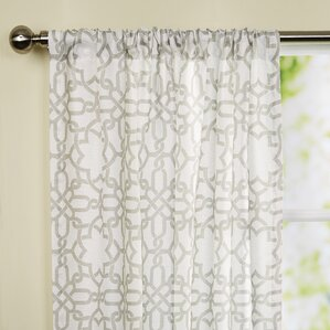 Trellis Rod Pocket Curtain Panel