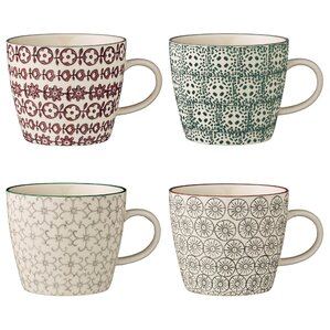 Ferdinand 4-Piece Ceramic Mug Set