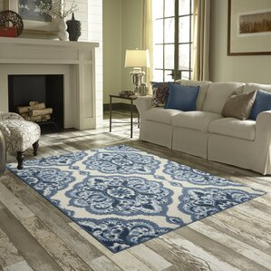Ellis Blue Area Rug