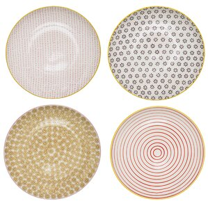 Susan 4-Piece Ceramic Dinner Plate Set
