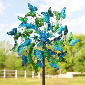 Butterflies Metal Wind Spinner