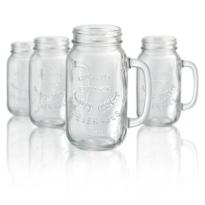Mason Jar Mug (Set of 4)