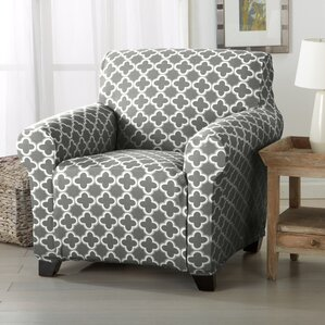 Brenna Twill Armchair Slipcover  by Home Fashion Designs