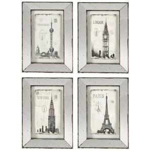 4-Piece Alessia Mirrored Wall Decor Set (Set of 4)
