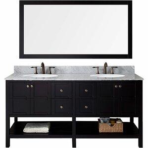 """Florentina 70"""" Double Bathroom Vanity & Mirror Set"""