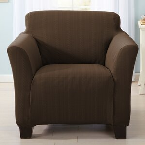 Darla Cable Knit Armchair Slipcover  by Home Fashion Designs
