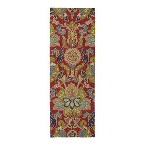 Chauncy Red Floral Hand-Tufted Indoor/Outdoor Rug