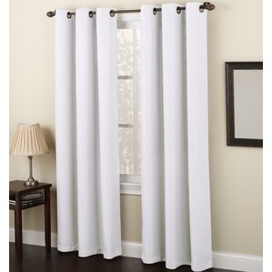 Maurice Solid Sheer Grommet Single Curtain Panel
