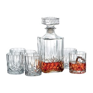 7-Piece Dublin Decanter & Rocks Glass Set