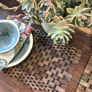 Lrya Recycled Teak Placemat Set (Set of 2)