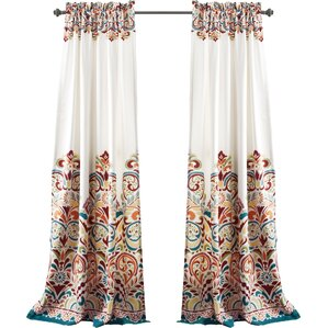 Kara Paisley Rod Pocket Curtain Panel (Set of 2)