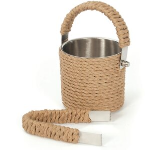 Roped Ice Bucket and Tong