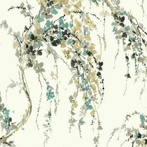 "Dakota 27' x 27"" Floral and Botanical Wallpaper"