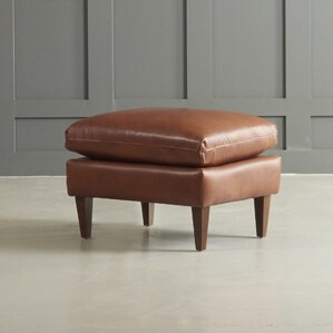 Florence Leather Ottoman