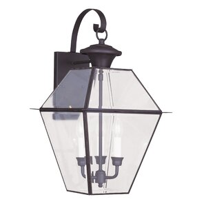 Fields 3-Light Outdoor Wall Lantern