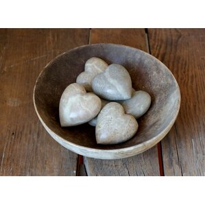 Decorative Heart Soapstone Vase Filler (Set of 6)