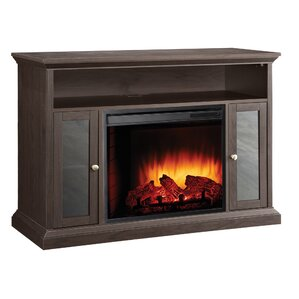 Burma Media Console with Electric Fireplace
