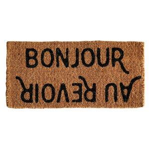 Jackie Bonjour/Au Revoir Doormat