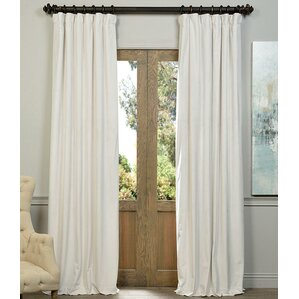 Thalia Velvet Blackout Single Curtain Panel