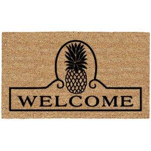 Eliza Pineapple Welcome Doormat