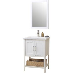 "Joanna 24"" Single Vanity Set with Mirror"