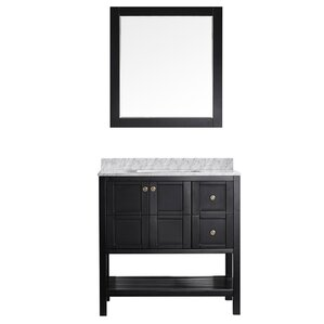 "Simmons 36"" Single Vanity Set with Mirror"