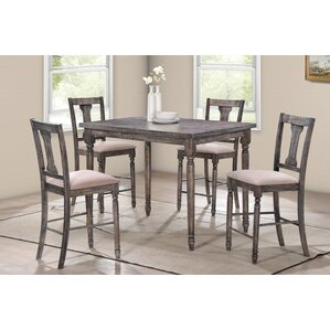 Vera 5-Piece Counter Height Pub Table Set