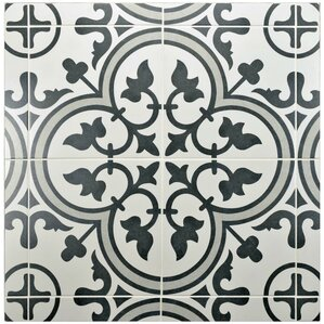 "Arya 9.75"" x 9.75"" Porcelain Field Tile in Gray"