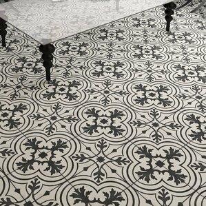 """Forcier 7.75"""" X 7.75"""" Ceramic Field Tile in Black"""