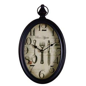 """Bon Appetite"" Cutlery Detail Round Wall Clock"