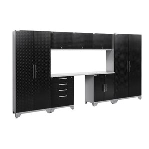 "Pentland 2.0 Diamond Plate Series 77.25"" H x 132"" W x 18"" D 8-Piece Storage Cabinet Set"
