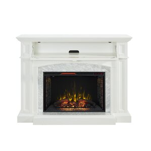 Hefner Media Console with Electric Fireplace