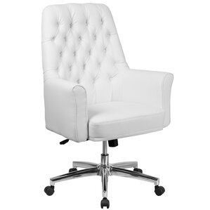 Portersville Village Traditional Tufted Swivel High Back Executive Chair